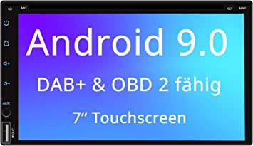 Quad Core USB//SD DAB+ Tristan Auron BT2D7023VW Digitalradio GPS Navi 7 Touchscreen Bildschirm OBD 2 Adapter f/ür VW Seat Skoda Bluetooth Freisprecheinrichtung Android 8.1 2 DIN