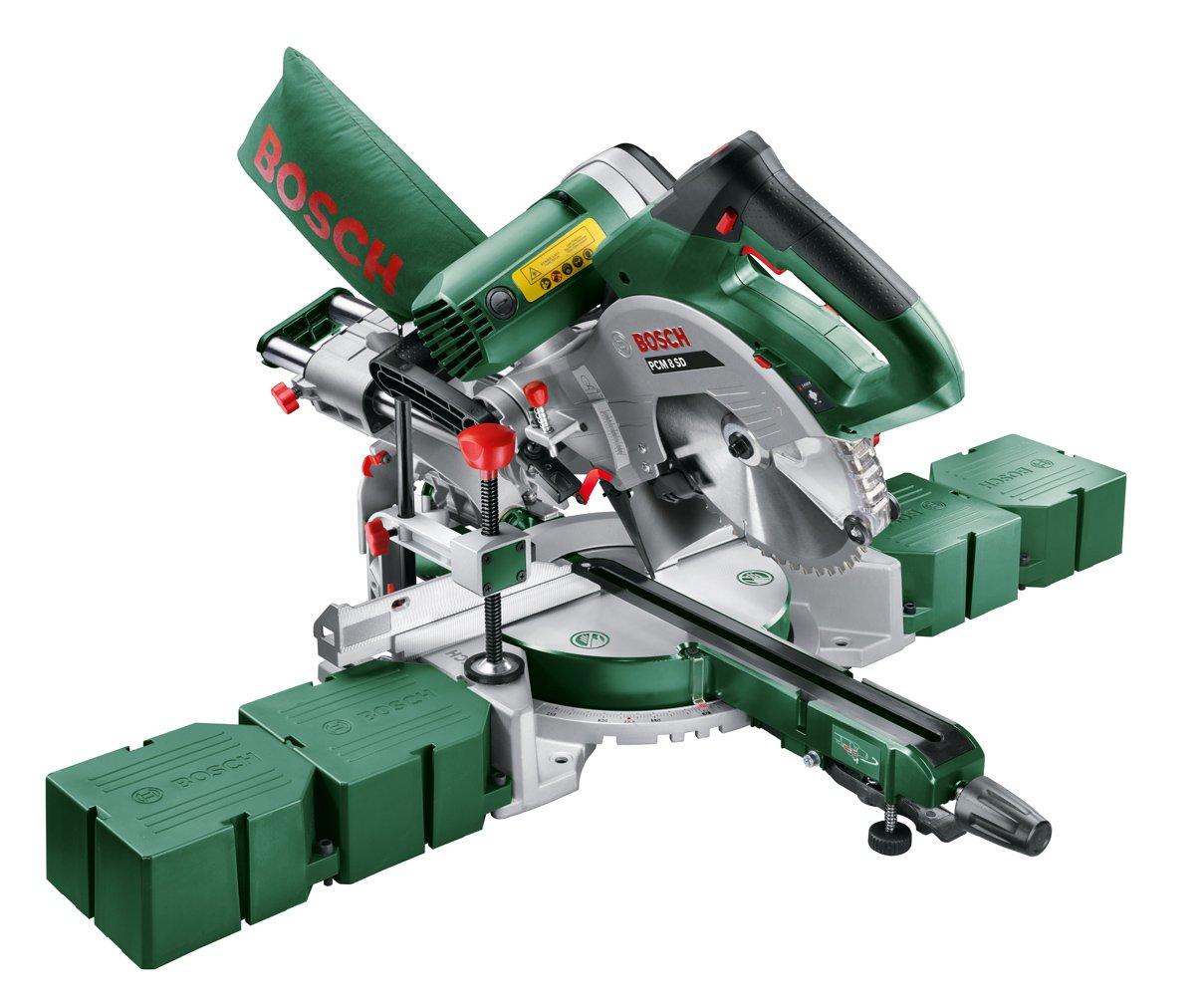Bosch Kappsä ge und Gehrungssä ge PCM 8 (Arbeitsklemme, Kreissä geblatt Optiline Wood, Staubbeutel, Karton, 1.200 Watt) 0603B10000