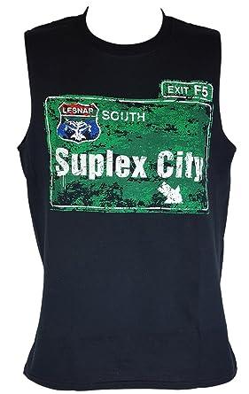 d82114ae Hybrid Tees Brock Lesnar Suplex City Mens Sleeveless Muscle T-Shirt-S
