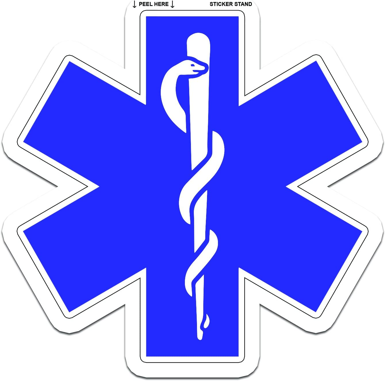 "Free Shipping Firefighter EMT EMS Decal 3.75/"" EMS Decal"