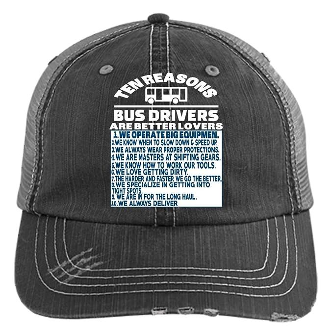 52bd65c37 Bus Driver Are Better Lovers Hat, We Always Deliver Trucker Cap (Trucker  Cap - Black) at Amazon Men's Clothing store: