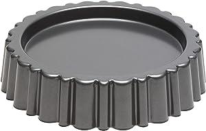 Kitchen Craft Chicago Metallic Professional Non-Stick Mary Ann Cake Pan/Sponge Flan Tin, 27 cm (10.5