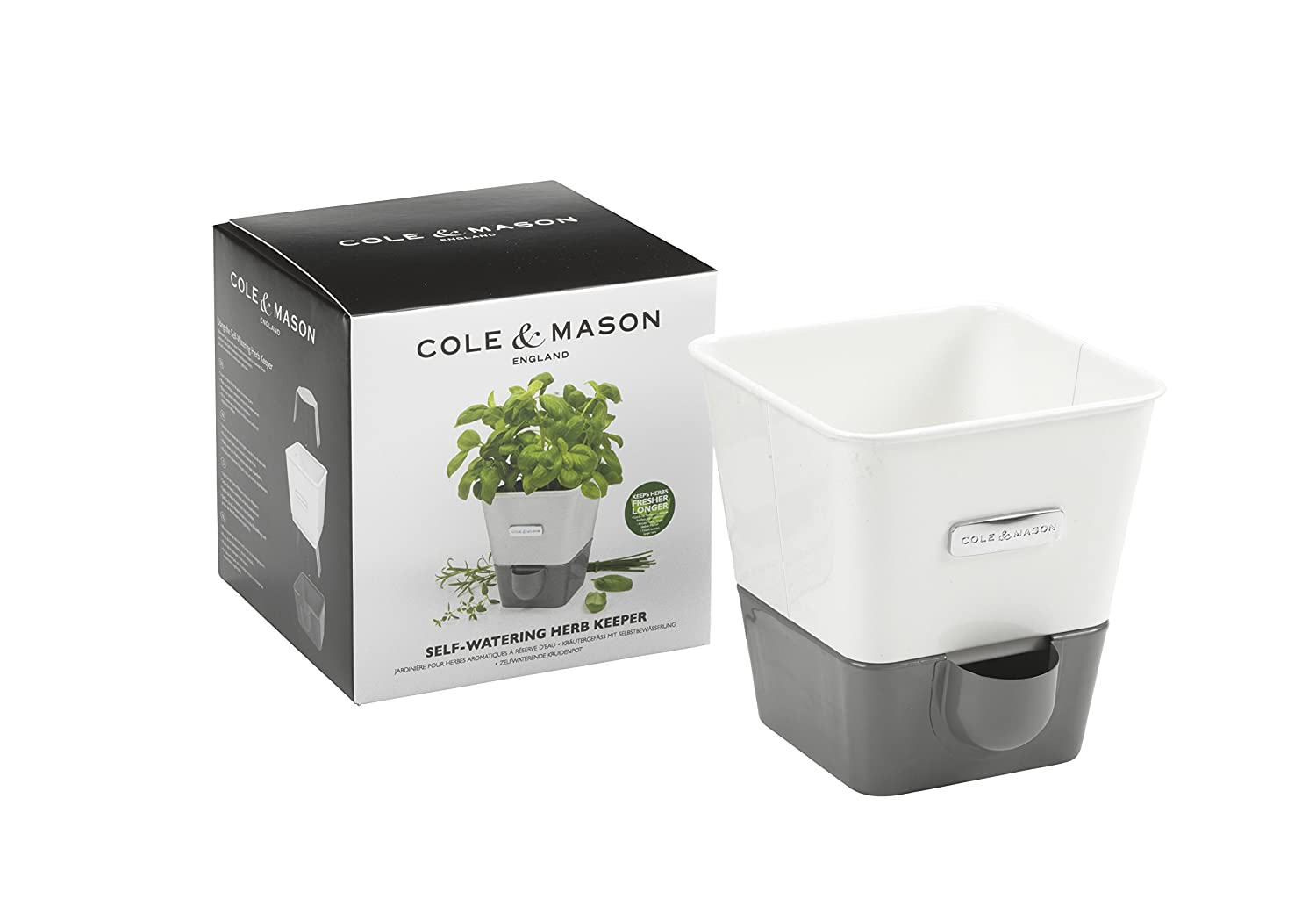 Cole planters prices - Amazon Com Cole Mason Self Watering Indoor Herb Garden Planter Pot Kitchen Dining