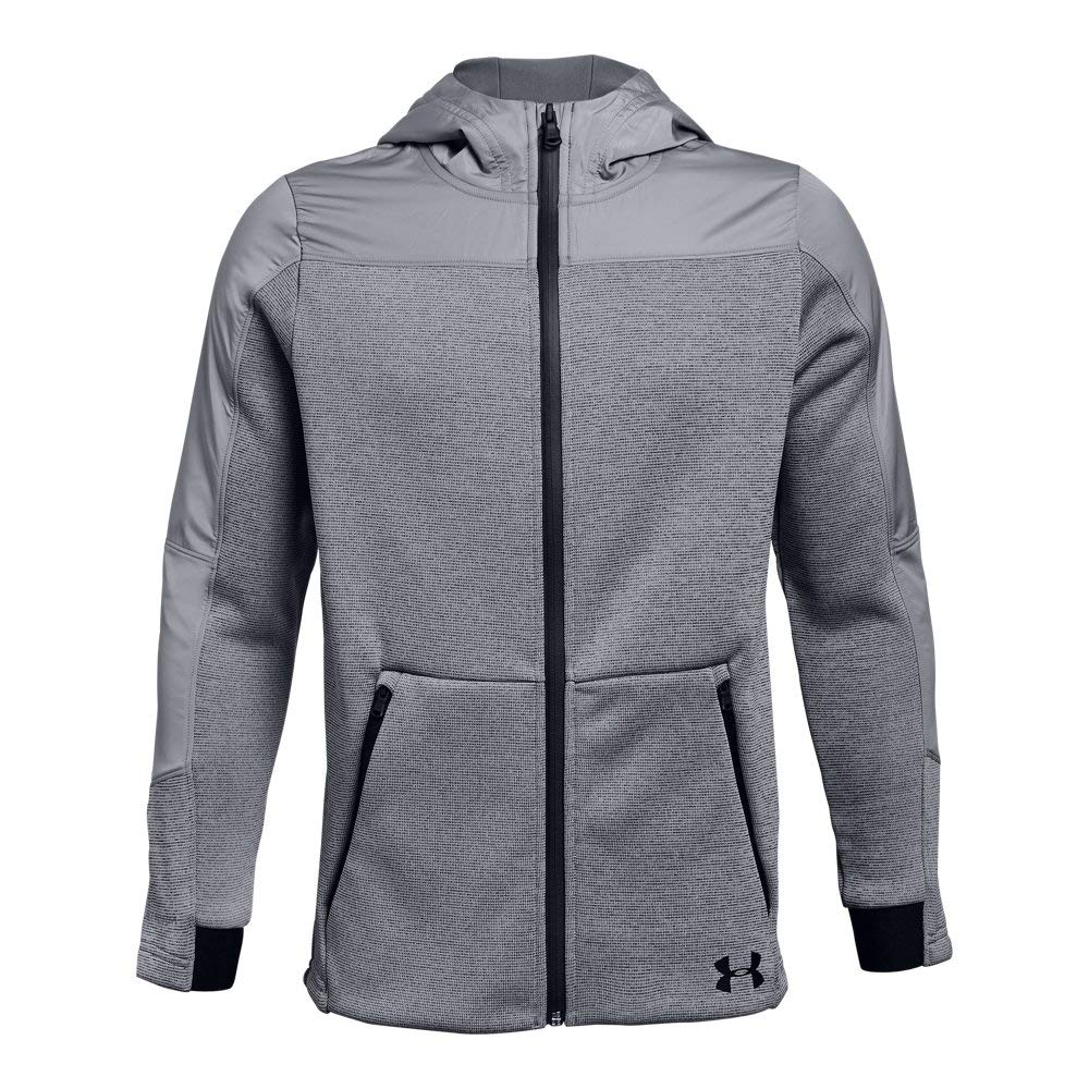 Under Armour Boys Swacket, Steel (035)/Black, Youth X-Large