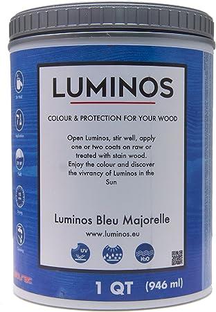 Luminos LUM1102 - Protector de madera acabado antimanchas color azul Majorelle - Quart: Amazon.es: Bricolaje y herramientas