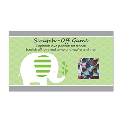 Amazon Com Big Dot Of Happiness Green Elephant Baby Shower Or