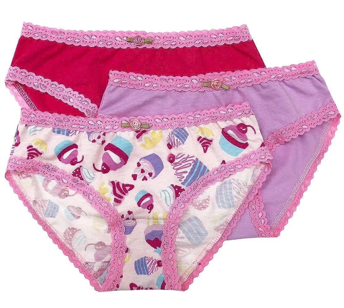3028d2bcf083b4 Amazon.com: Esme Little Girl's & Big Girl's 3pcs Panty Pack: Clothing