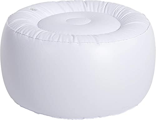 Art Leon Outdoor Inflatable Ottoman Green Round Patio Footstool for Kids and Adults, Patio, Deck, Front Porch, Backyard, Garden
