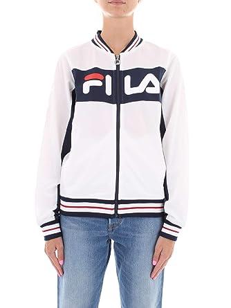 b7927342a1 Fila 492002 Sweat-Shirt Femme Blanc M: Amazon.fr: Vêtements et ...
