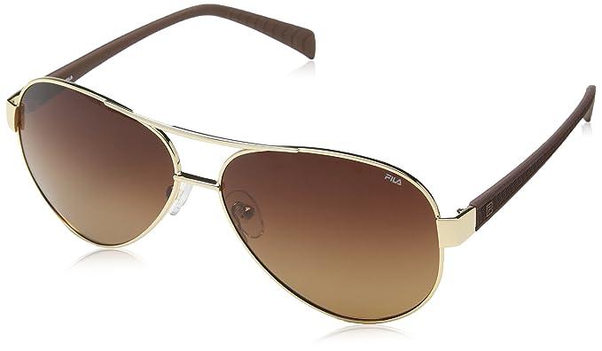 Fila SF9642 59300P, gafas de sol para Hombre, Marrón (Shiny ...