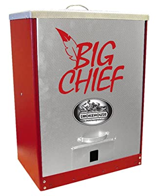 Smokehouse Products Big Chief Red Powder Coated Front Load Smoker