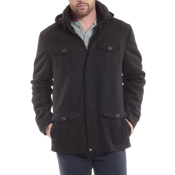 alpine swiss Noah Men's 8 Cargo Military Pocket Zip-Out Hood Coat ...