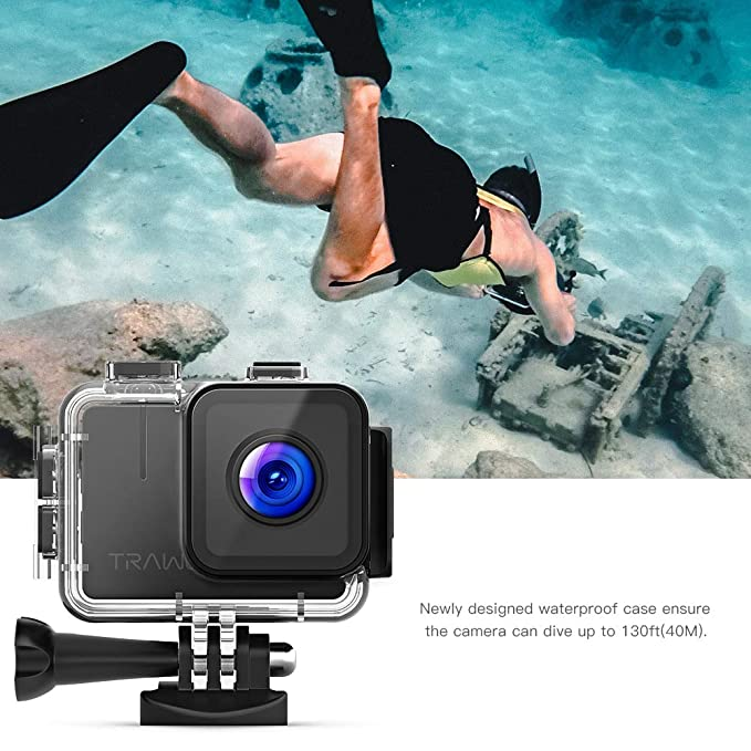 Amazon.com : APEMAN Trawo Action Camera Waterproof Case ...