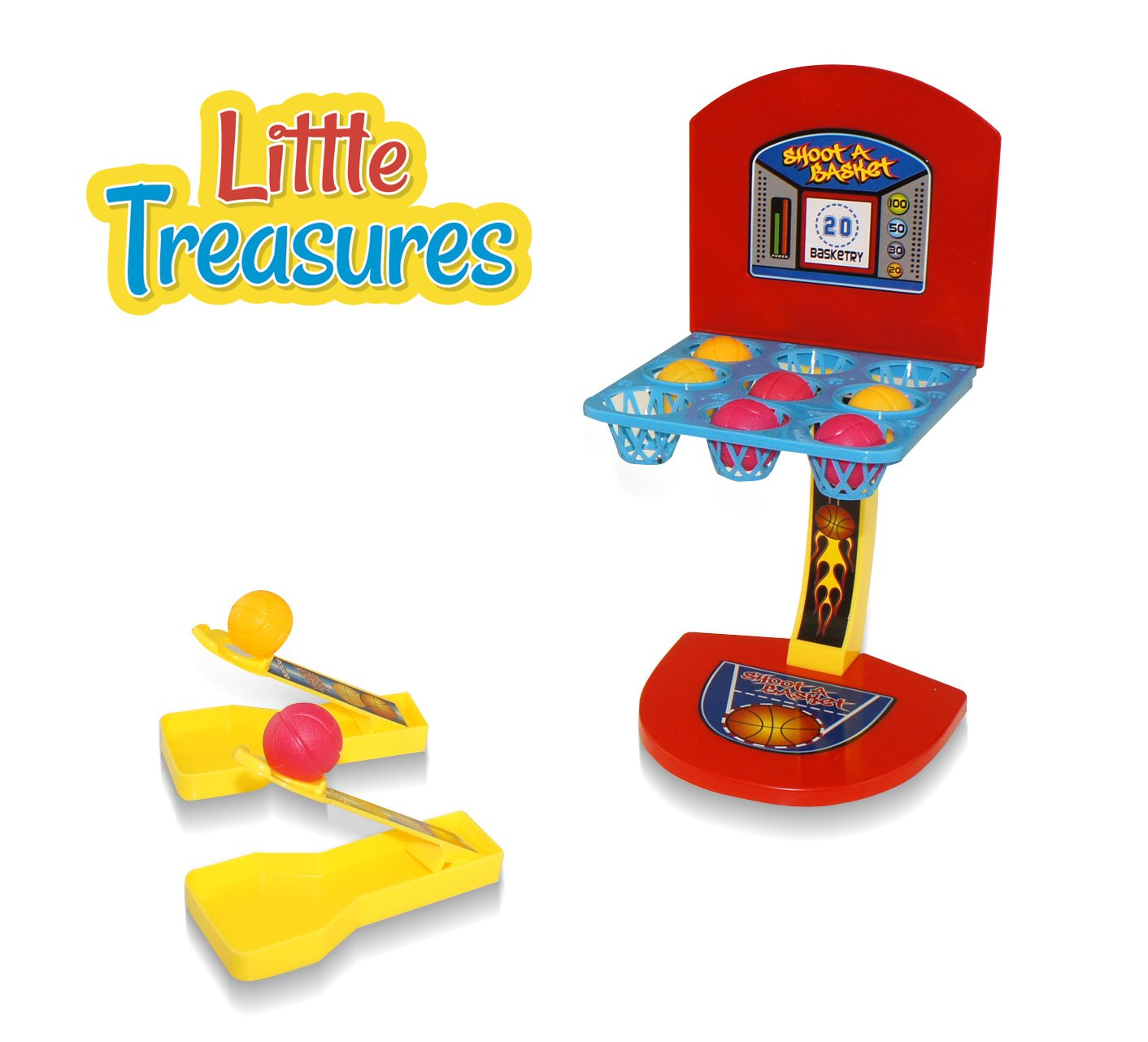 Little Treasures Ball Shoot Basketball Game, Mini Version for The Home or Office Loved by Adults and Kids by Little Treasures