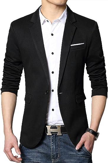 Cenizas Casual Blazer for Men - Slimfit Partywear Suits & Blazers at amazon