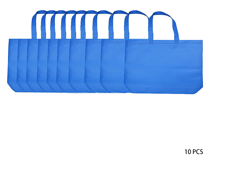 新作 再利用可能なショッピングbags|不織布PP sqare| | bags| Eco friendly| Large Conventional bags| Large sqare| B076V2YD47 ブルー ブルー|10, ノギマチ:34713e30 --- 4x4.lt
