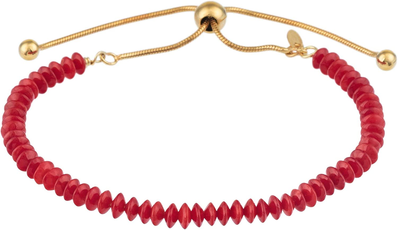 Córdoba Jewels |Pulsera en Plata de Ley 925 bañada en Oro Amarillo con diseño Swarovski Rubi Gold