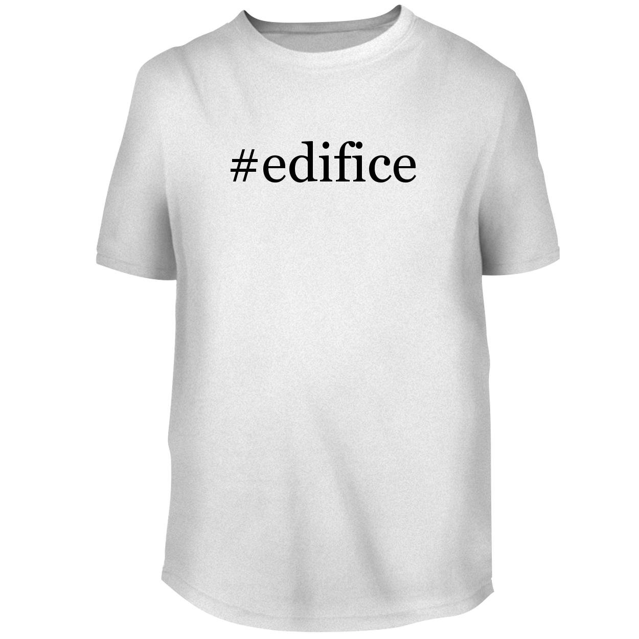 BH Cool Designs #Edifice - Men's Graphic Tee, White, X-Large