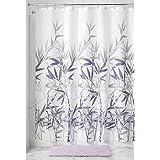 "InterDesign Anzu Fabric Shower Curtain, 72"" Inches x 72"" Inches, Purple/Gray"