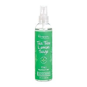 Renpure Plant-Based Beauty Tea Tree & Lemon Sage 5-in-1 Leave-in Treatment Mist, 8 Fluid Ounce