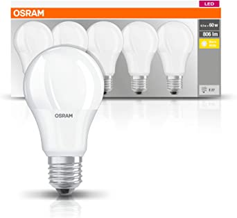 Osram Bombilla Led, 8.5 W, Blanco Pack, 5: Amazon.es: Iluminación