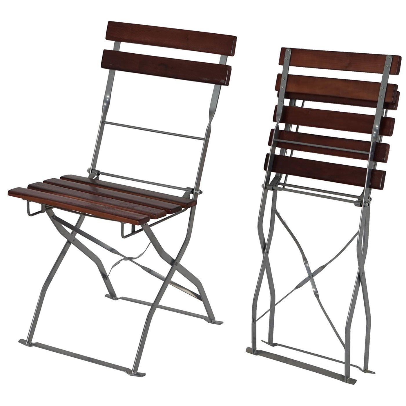 SSITG 2x Stuhl Biergarten-Garnitur Gartengarnitur