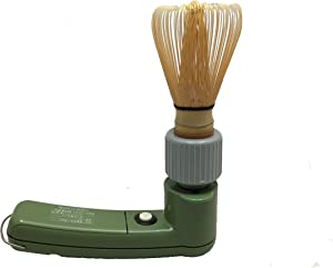 Charaku, Japanese Handheld Electric Matcha Whisk/Frother with bamboo chasen made in japan