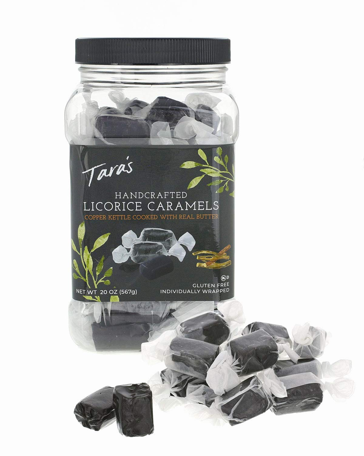 Tara's All Natural Handcrafted Gourmet Black Licorice Caramel: Small Batch, Kettle Cooked, Creamy & Individually Wrapped - 20 Ounce by Tara's (Image #2)