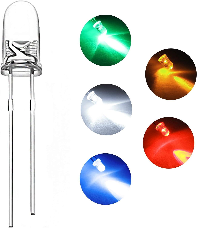 New 1000PCS 5mm Warm White DIFFUSED LED LEDs LED/'S Light Lamp Free Shipping