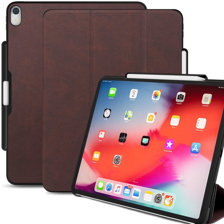 円高還元 KHOMO B07KWG5C1P iPad Pro 11インチケース KHOMO ペンホルダー付き - デュアルPUレザーブラウンスーパースリムカバー - - ペンシル充電をサポート B07KWG5C1P, 山野楽器ピアノ館:5a7f429f --- a0267596.xsph.ru
