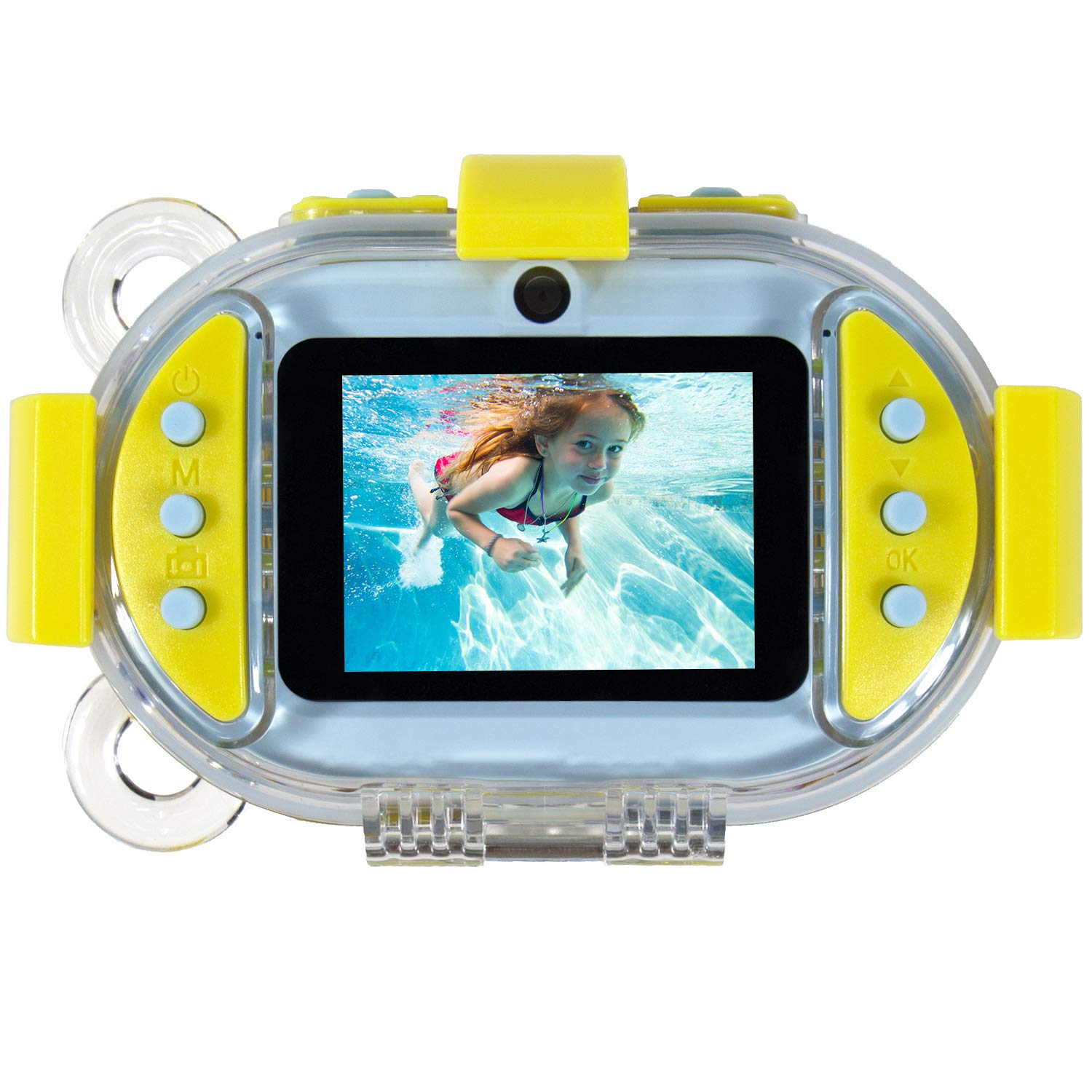 eProud Waterproof Camera for Kids, Underwater Kids Camera Gift Toy, HD 1080P Photo Video Dual Lens Shockproof Digital Camera with 2.4 Inches 32G Memory Card Reader for Boys and Girls (Blue)