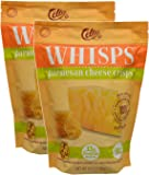 Whisps Parmesan Cheese Crisps| Keto Snack, No Gluten, No Sugar, Low Carb, High Protein | 9.5oz (2 Pack)