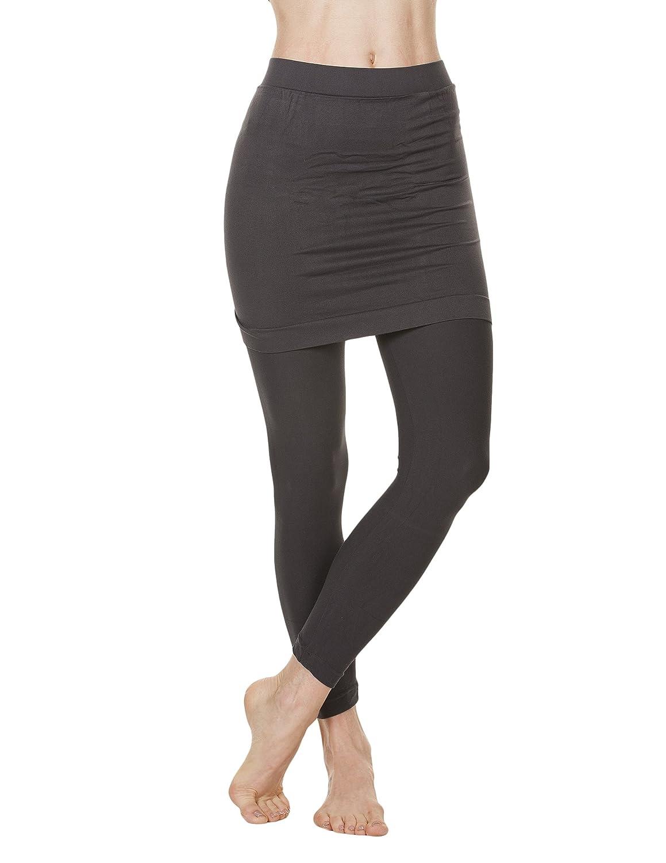 3ac41c9338 Foot Traffic - Skirted Leggings, Grey at Amazon Women's Clothing store: