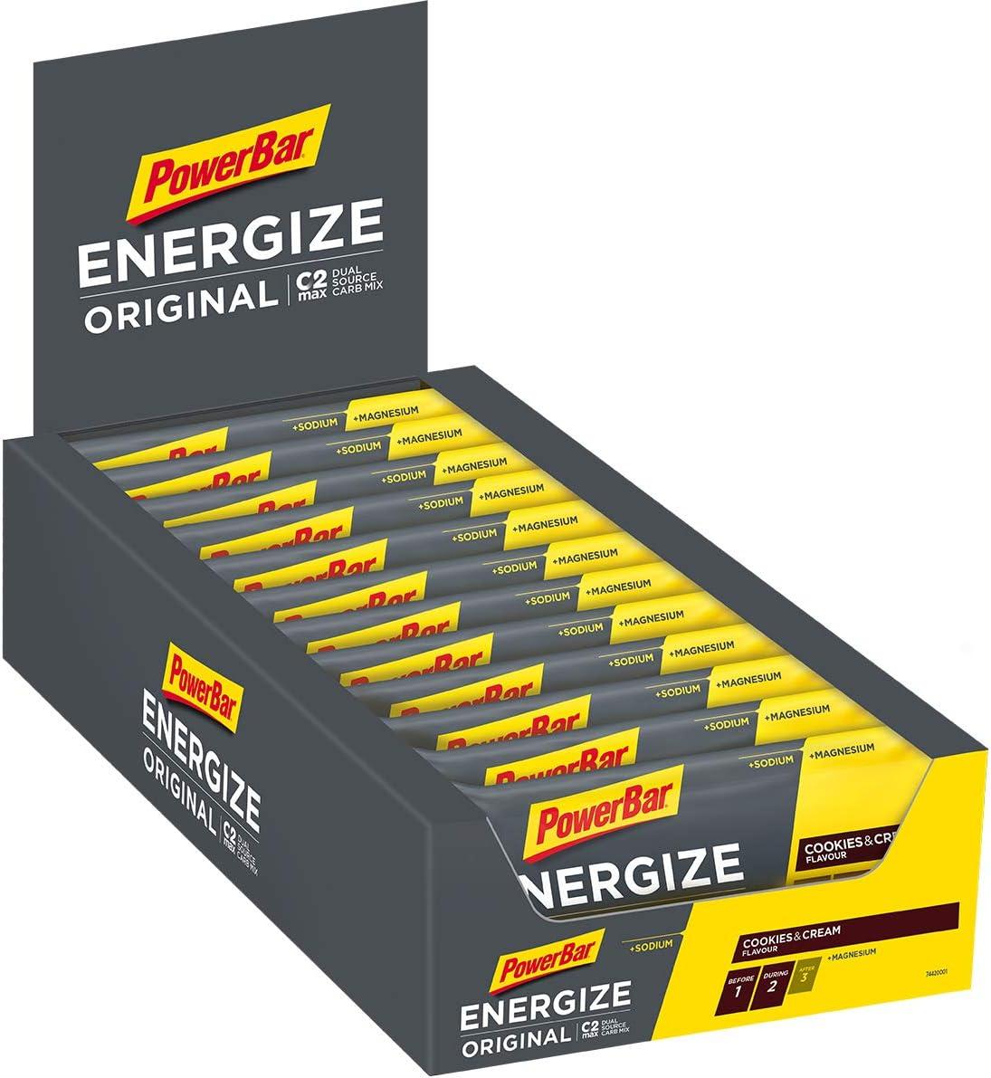 Powerbar Energize Original Cookies & Cream 25x55g-Barra de Alta ...