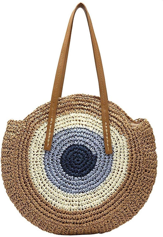 Round Straw Bags Women...