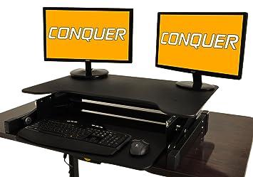 Superior Desktop Tabletop Standing Desk Adjustable Height Sit To Stand Ergonomic  Workstation