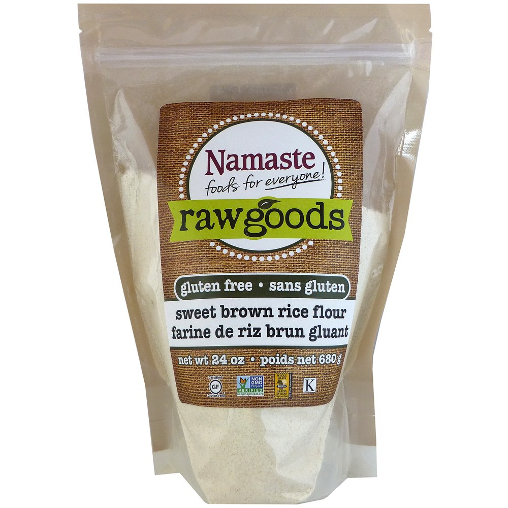 Namaste Foods Sweet Brown Rice Flour, 24 Ounce (Pack of 6)
