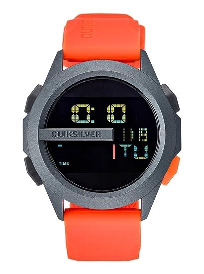 Quiksilver EQYWD00003-XNNB - Reloj, correa de silicona color naranja