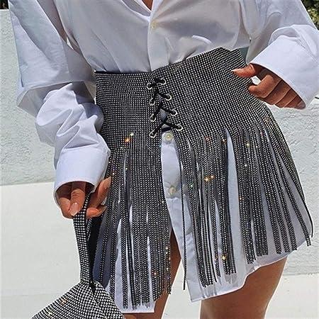 Shengdasm Faldas de Encaje con Cordones Mini Falda Borla Mini ...