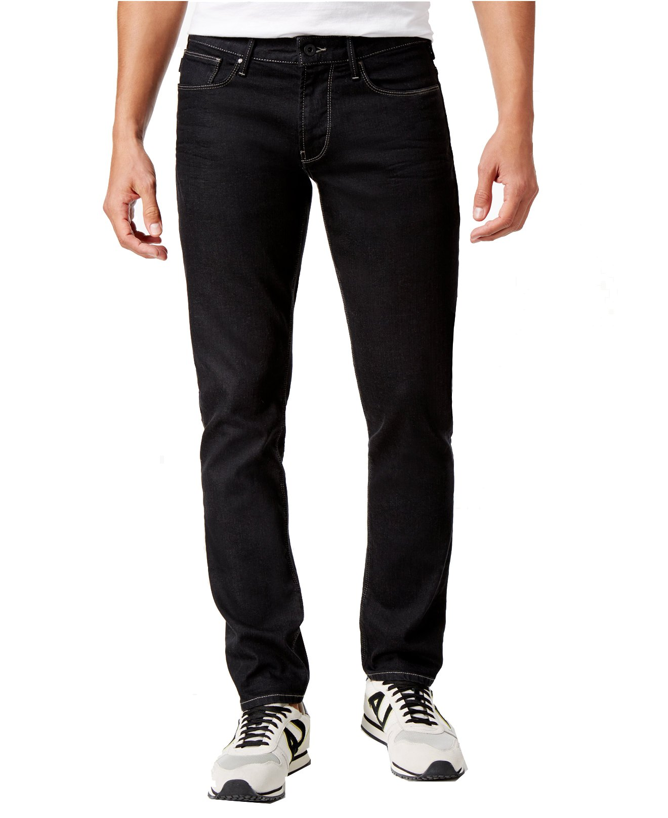 ARMANI JEANS Men's Slim-Fit J06 Jeans (38W x 32L, Black)