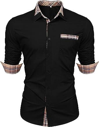 Shirt Men/'s Modern Fit Business Casual Wedding Easy Ironing Shirts Long Sleeve