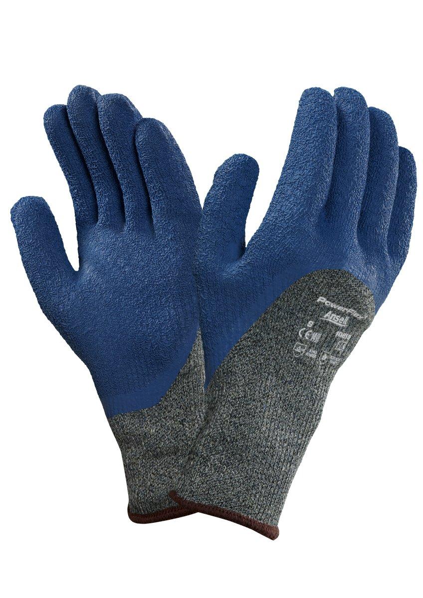 Ansell Powerflex 80-658 Guanto di Protezione Contro il Taglio, Protezione Meccanica, Blu, Taglia 9 (Sacchetto di 12 Paia)
