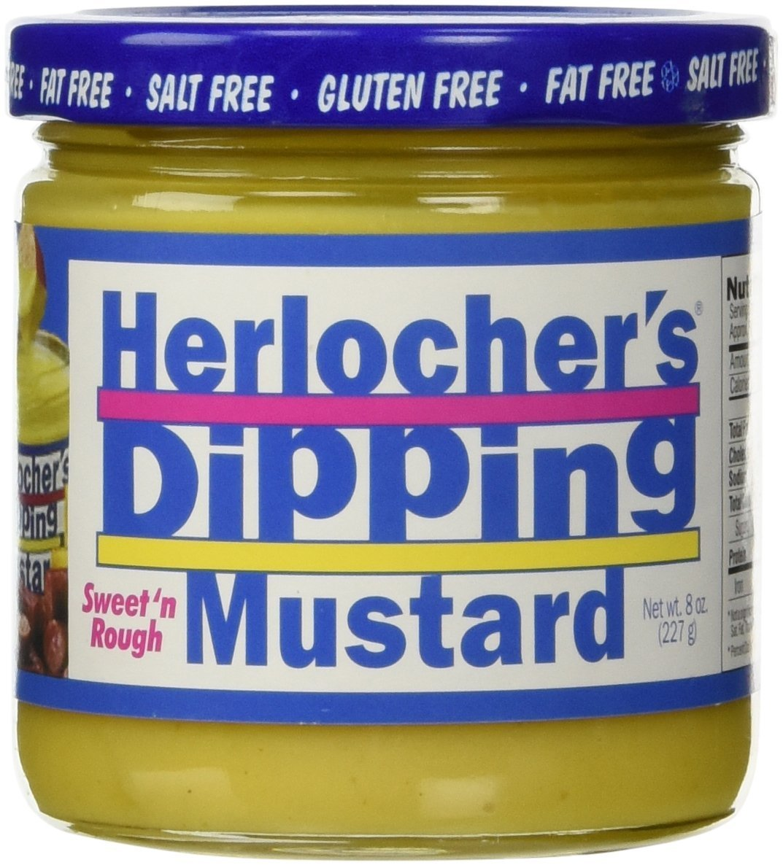 Herlocher's Dipping Mustard Sweet/Rough, 8 Ounce (Pack of 12)