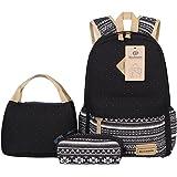 School Backpack Teen Girls Schoolbag Set with Lunch Bag Pencil Case
