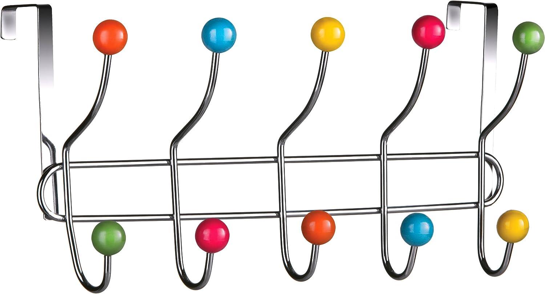 Premier Housewares - Perchero para Puerta (10 Ganchos), Multicolor