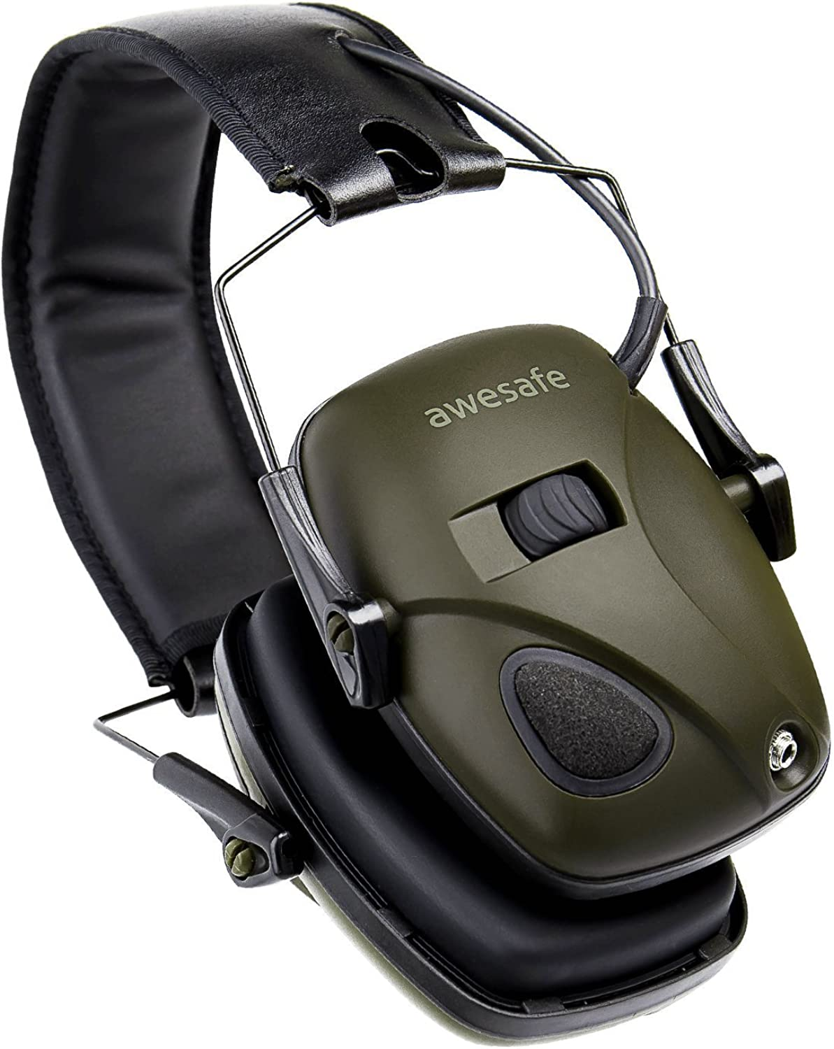 awesafe Electronic Shooting Earmuffs Hearing Protection with Sound Amplification and Suppression : Clothing