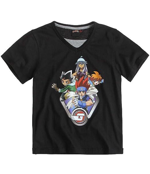Beyblade - Camiseta de manga corta - para niño negro 4 años: Amazon.es: Ropa y accesorios