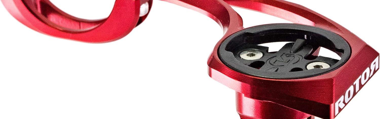 Rouge One Size ROTOR Garmin 31,8/mm Support de Guidon pour Ordinateur de v/élo