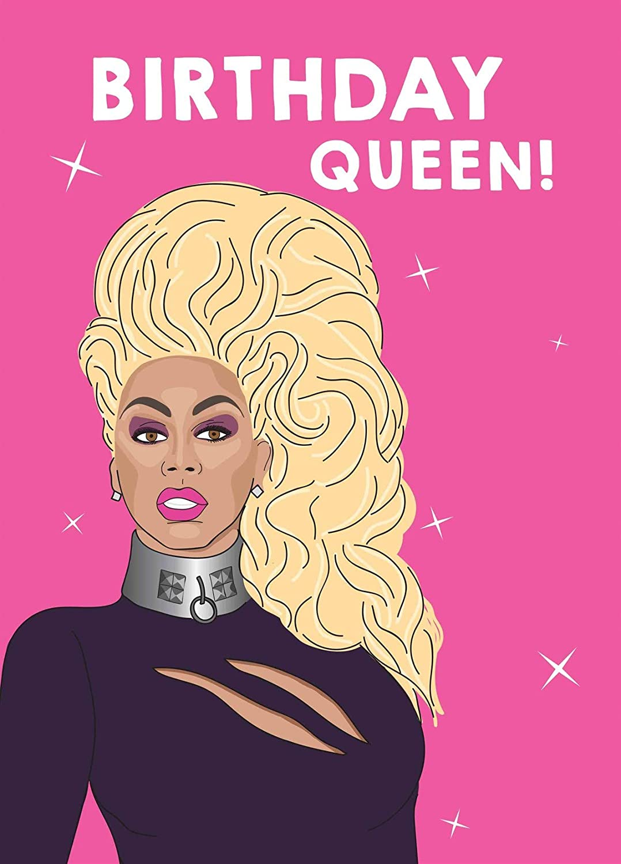 Scribbler   Funny Gay Birthday Card   Birthday Queen Amazon.co.uk ...