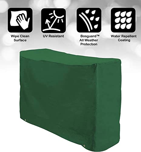 Bosmere Weatherproof Bistro Set Outdoor Cover for 2 Chairs Round Table 49 L x 25 W x 31 H, Green